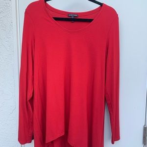 Ruby red long sleeve top
